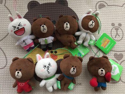 Line Friends 10cm 公仔