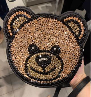 Moschino Black Sling Bag Teddy Bear Hitam