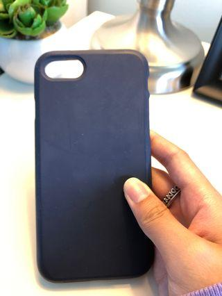 iPhone 7/8 Navy Blue Silicon Case w/Screen Protector