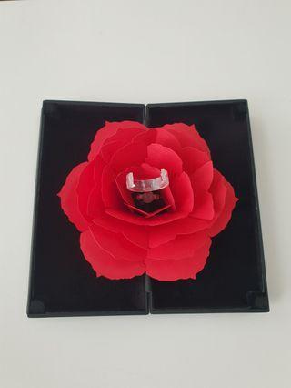 3D Rotating Rose/Flower Ring Box