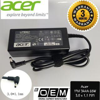 Acer Laptop Charger 19V 3.42A Pin 3.0 x 1.0 MM