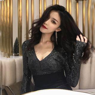 Instock! Brand new black shimmer top elegant