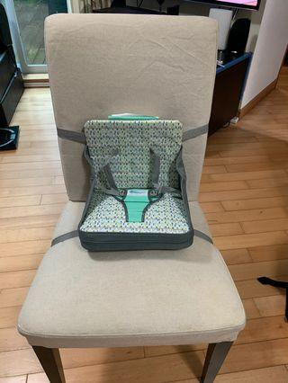 The First Years Portable On-The-Go Baby Booster Chair with Safety Straps