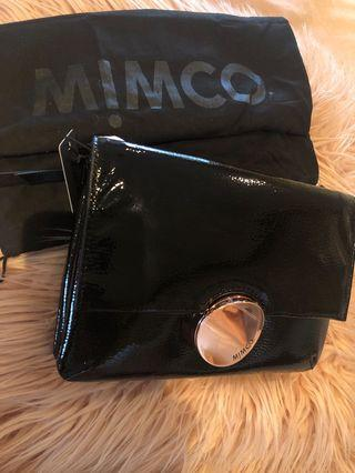 Mimco waver hip bag rose gold black *NEW