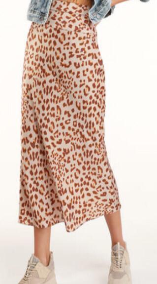 New Free People Satin Midi Skirt