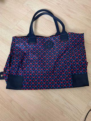 Tory Burch foldable tote with zipper closure