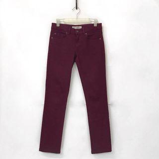 Topshop Baxter Burgundy Red Jeans