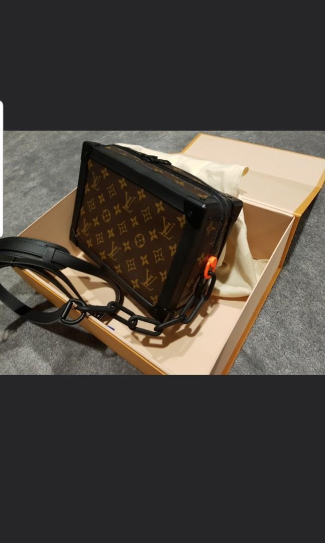 100% Authentic Louis Vuitton Virgil Abloh Soft trunk with receipt. cheap steal promotion