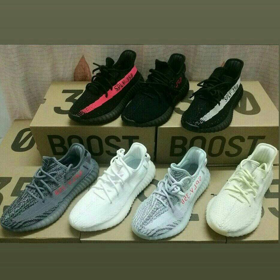 quality design 91dde a8a16 100% Original Readystock Adidas Yeezy SPLY 350 V2 Boost Zebra UV Light Men  Women Sports Running Shoe