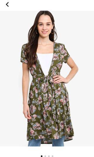 Something Borrowed floral print duster coat