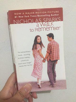 A walk to remember (english version) cover novel movie