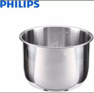 Philips 304 Pressure Cooker Inner Stainless Steel Pot HD2778 (6L)