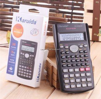 Multi-Function Scientific Calculator for Math Work Exam 2 line display