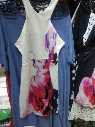 Floral Dress 2 colour Ready Stock