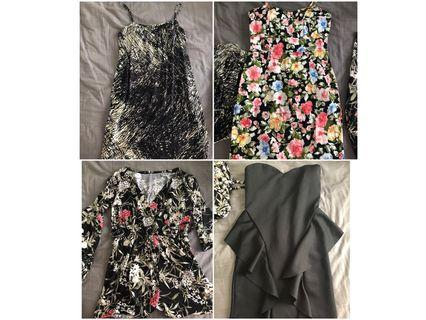 Bundle Sale 4 for $15 Dresses and Rompers Size S-M
