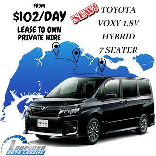 HOT LEASE !!! BRAND NEW TOYOTA VOXY 1.8V HYBRID 7 SEATER
