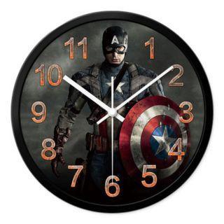 New Marvel The Avengers Captain America Analog Wall Clock