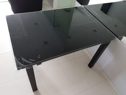 Calligaris CS4011 Airport Table (P15 Black Glass top)