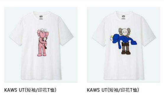 Kaws summer:  UNIQLO 優衣庫 T恤 衣服 6款 L & XL