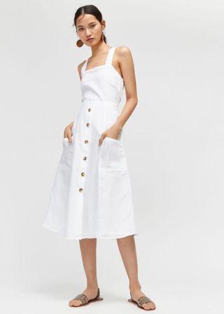 Warehouse Linen Botton Through Dress