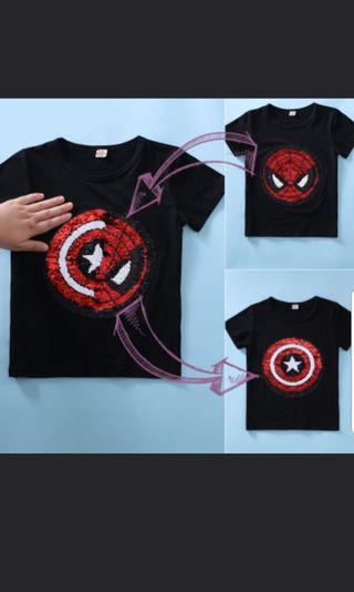 Marvel sequin flip top