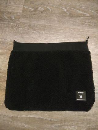 Anello black furry crossbody bag