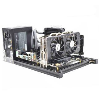 open computer chassis case adjustable expandable for engineers advance IT experts ATX MATX ITX