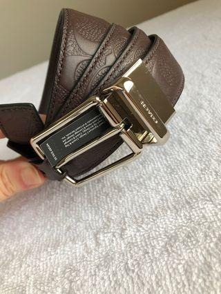 Coach Signature Print Belt