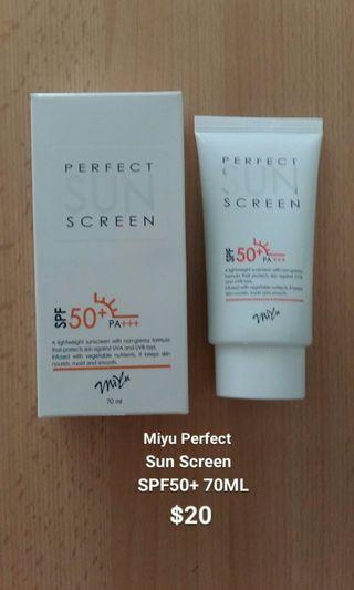 Miyu Perfect Sun Screen SPF50+