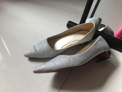 銀色伴娘鞋 70%新