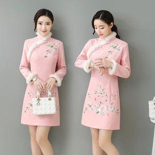 粉紅色旗袍 華服 中國風連身裙