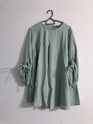 BN Minty Green Adjustable Sleeves Top