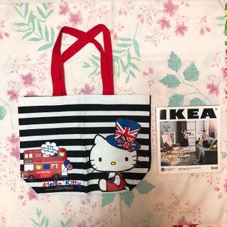 Hello Kitty 英倫風環保袋