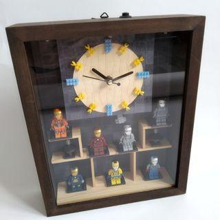 Clock with Mini Ironman Figurines