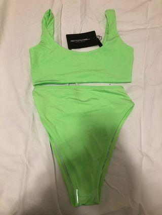 PrettyLittleThing Neon Green Swimsuit