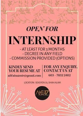 Internship for any field of study