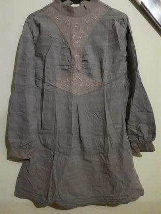 Baju Tunik warna Khaki