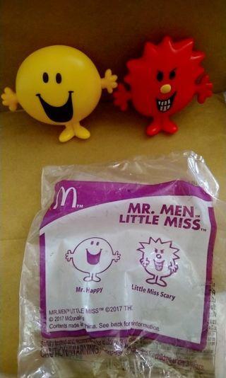 麥當勞公仔 MR. MEN & LITTLE MISS公仔 Mr Happy Little Miss Scary