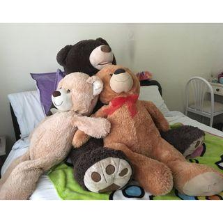 3 Giant Teddy Bears in great condition