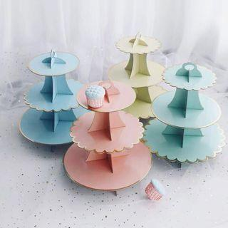 Party Paper Cupcake Stand