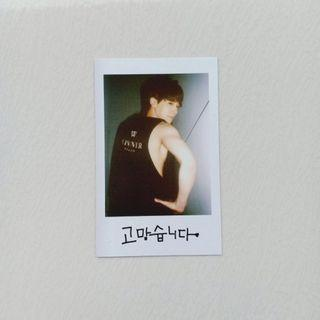 OFFICIAL PHOTOCARD WINNER JINWOO (JINU) FROM 2014 S/S