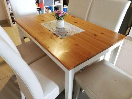 Ikea LERHAMN Dining Set