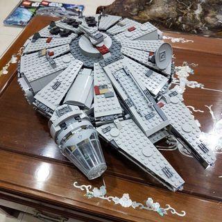 Lego Star Wars Millenium Falcon 7965 Built and Manual plus Death Star 10188 Manual