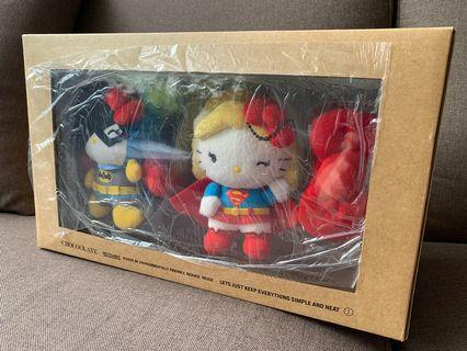 DC Comics x Hello Kitty plush set. From 2015 :Chocoolate collection