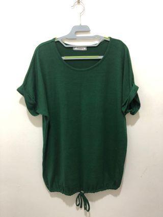 🚚 Green draw string top
