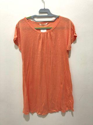 Orange maternity t-shirt