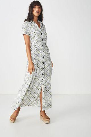 [SELL] COTTON ON BERNIE BUTTON MAXI DRESS