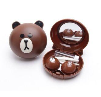 Line friend contact lens case storage cony brown Sally