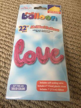 Pink Love Foil Balloon
