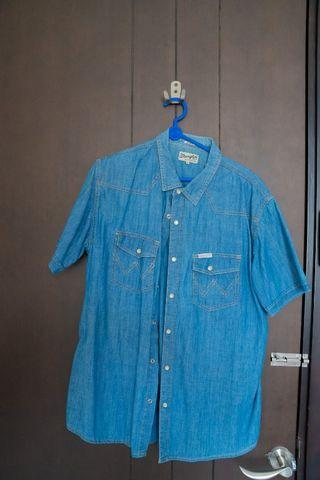 Kemeja Denim Shirt Wrangler Slim Fit